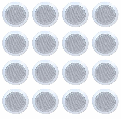 Lot of 16 (8 Pairs) Fully Enclosed 6.5'' In-Wall / Ceiling Speakers - Contractors Lot by MakerBright