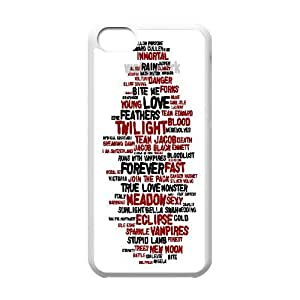 Custom The Twilight Saga Cover Case, Custom Hard Back Phone Case for iPhone 5C The Twilight Saga