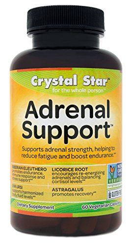 Crystal Star Adrenal Support, 60 Vegetarian Capsules