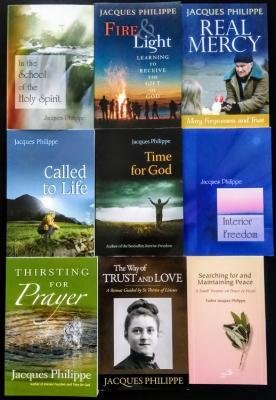 Jacques Philippe - Complete 9 book set - Searching for and Maintaining Peace, Interior Freedom, Time for God, Thirsting for Prayer, Real Mercy, Trust and Love, Holy Spirit, Called to Life, More