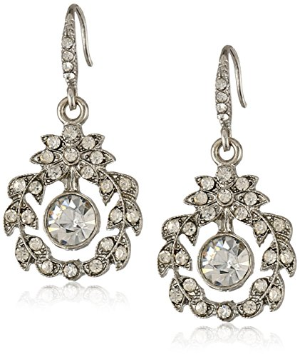 Downton Abbey Stardust Silver-Tone Belle Epoch Wreath Crystal Earrings
