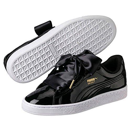 Puma Mand Hart Patent Wit En Roze. Schoenen Voor Vrouwen. Sneaker Zwart / Wit