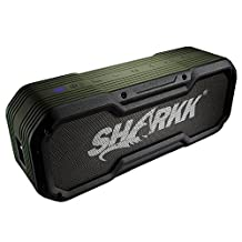 SHARKK Commando+ 20W Bluetooth Speaker IP65 Rugged Waterproof Wireless Speaker with 6600mAh Power Bank and 2 EQ Sound Settings Portable Outdoor and Shower Speaker with 22 Hours+ Playtime