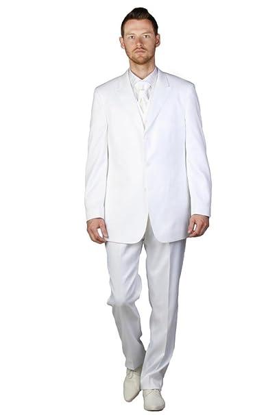 Dymastyle - Traje - para hombre blanco 60: Amazon.es: Ropa y ...