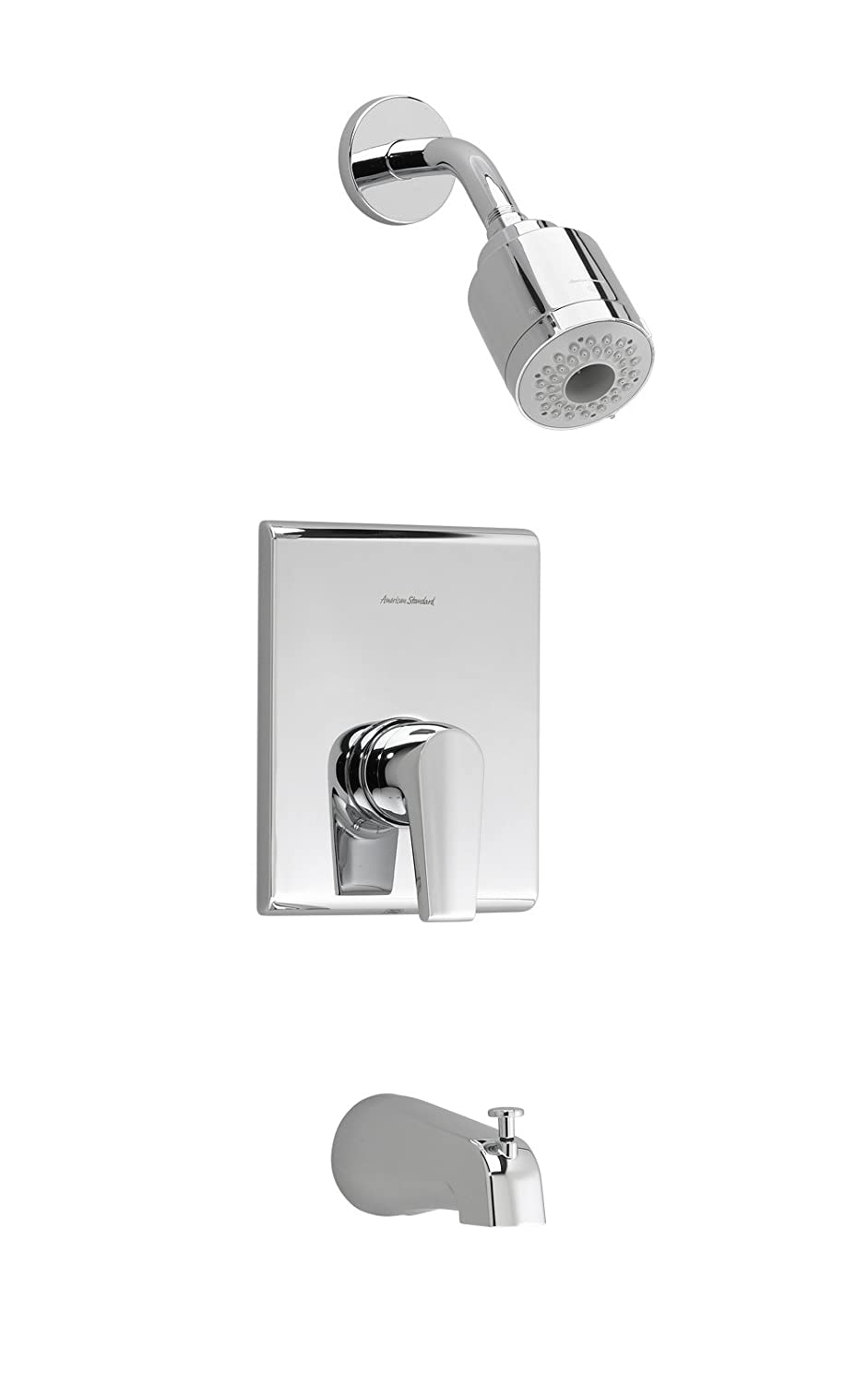 American Standard T590.508.002 Studio Bath and Shower Trim Kit with 3-Function Flowise Showerhead, Polished Chrome