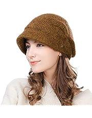 FancetAccessory Women Visor Beanie Cap Wool Newsboy Hat Beret Warm Fleece Fashion Cold Weather