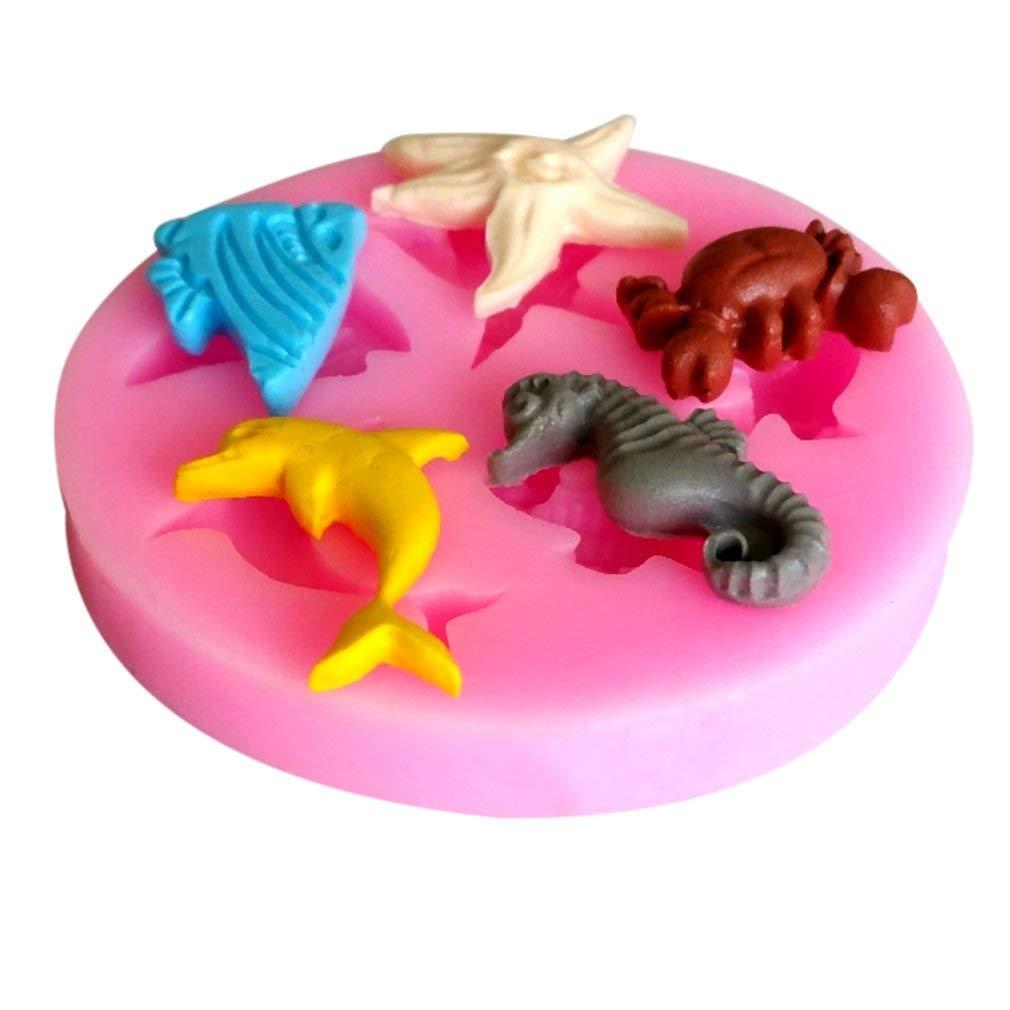 Seepferdchen und Seesterne Silikon Fondant Cake Tools Seifen Kerzenformen
