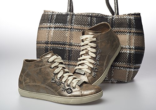 para cordones Plateado Loria Zapatos mujer de La wfx6BFqIO6