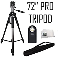 SSE Professional Tripod 3 Way Pan Head Tilt Motion with Built-in Bubble Leveling Plus Wireless IR Remote Control Shutter Release for Digital Cameras