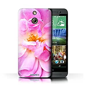 KOBALT? Protective Hard Back Phone Case / Cover for HTC One/1 E8 | Portulaca Design | Floral Garden Flowers Collection
