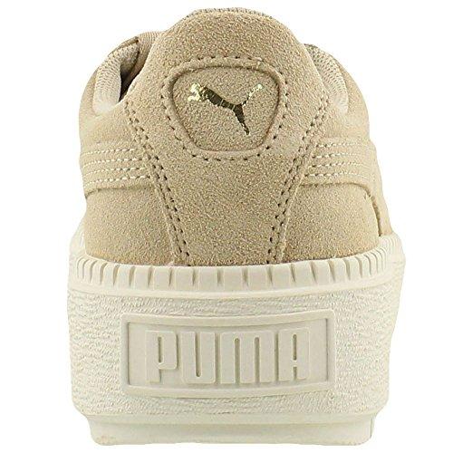 Puma Donne Piattaforma Camoscio Tracce Scarpe Da Ginnastica Safari / Marshmallow