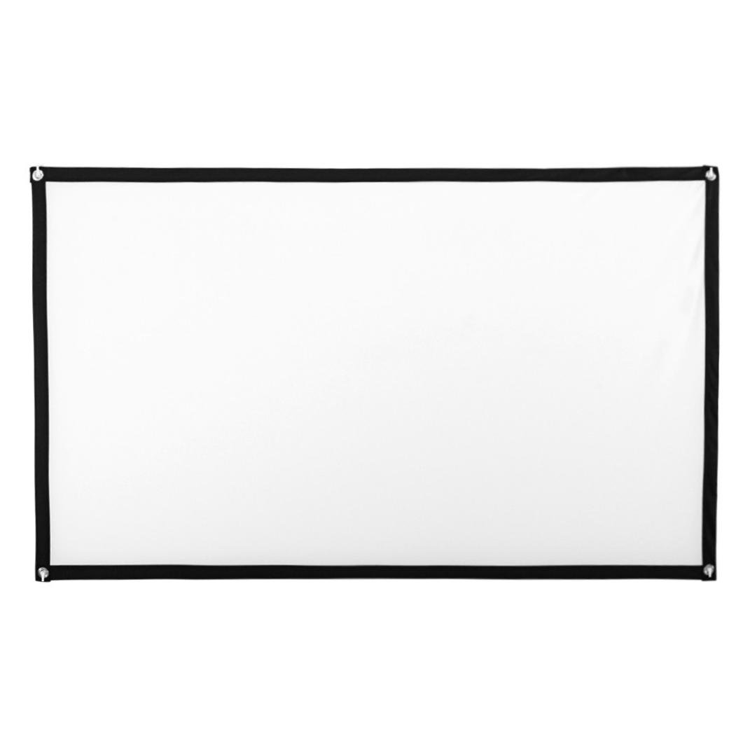Yeefant 1 Pcs No Crease 84 Inch HD Projector Screen 16:9 Home Cinema Theater Projection Portable Screen