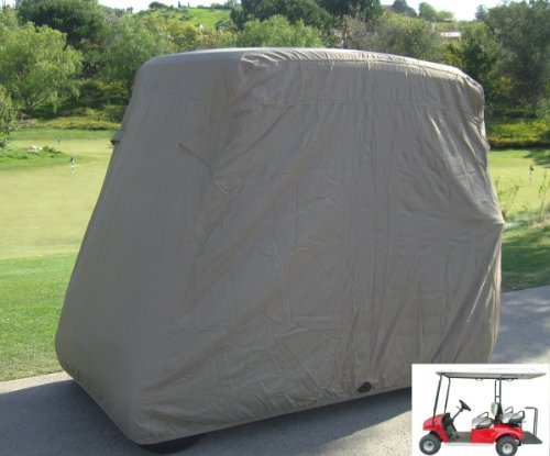 """Deluxe 4 Passenger Golf Cart Cover roof 80""""L Taupe, fits E Z"""