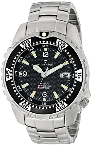 Momentum Men's 1M-DV06B00 M1 Deep 6 Analog Display Japanese Quartz Silver Watch - M1 Mens Dive Watch