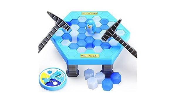 URGrace - Juego de mesa de pingüino para romper hielo, rompecabezas, juego de mesa de equilibrio, cubitos de hielo, bloque de hielo, juguete de pared, regalo de escritorio para niños de primera