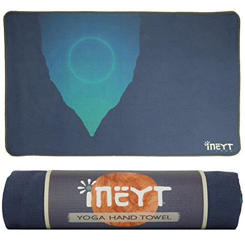 Yoga Hand Towel: Premium Microfiber Hand Towel, Durable, Packable, Machine Washable, Non-Slip, For Yoga, Bikram, Hot Yoga, Pilates, and General Exercise (Dusk, (General Exercise)