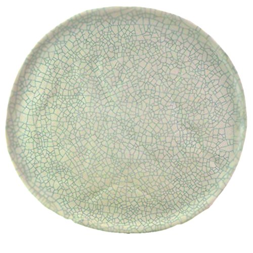 roro Ceramic Crackled Stoneware Dinner Plate, 11 Inch Set of 2