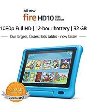 "All-New Fire HD 10 Kids Edition Tablet – 10.1"" 1080p full HD display, 32 GB, Blue Kid-Proof Case"