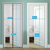 2 puertas de pantalla magnética para puerta corredera, 220 x 110 ...
