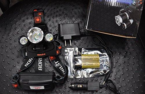 Waterproof 1600 Lumens CREE XM-L T6 3 Modes Adjustable Headlamp - 3