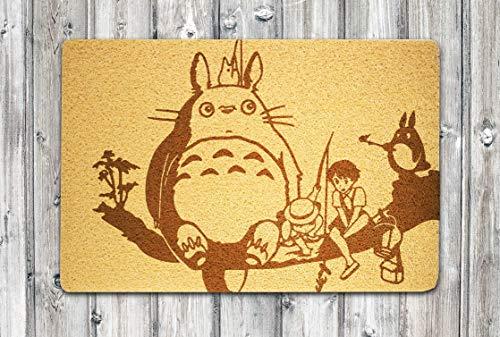 My Neighbor Totoro Doormat Studio Ghibli Doormat Anime Doormat My Neighbor Totoro Door Mat Studio Ghibli Door Mat Handmade Doormat Eco-friendly Doormat Rubber Home Decor Indoor Outdoor Entrance