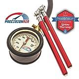 Analog Tire Pressure Gauge [ With 2 BONUS Pencil Gauges ]...