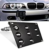 GTP Front Bumper Tow Hook License Plate Mounting Bracket Holder For BMW 1/3/5/6/7 Series X5 Z3 Z4 E36 E38 E53 E60 E63 E64 E66