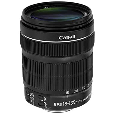 Canon EF-S 18-135mm f/3.5-5.6 IS STM Zoom Lens (White Box) Kit for Canon EOS 7D, 60D, EOS Rebel SL1, T1i, T2i, T3, T3i, T4i, T5i