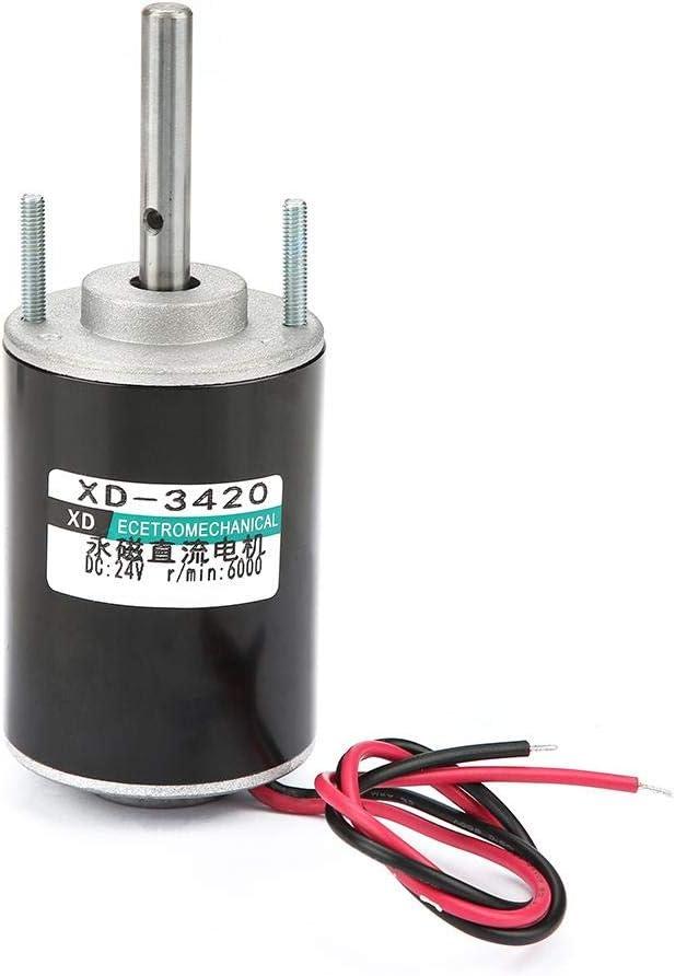 Motor Magnético de CC Motor de Imán Permanente Motores de CW/CCW de Alta Velocidad Motore Reversible 12 / 24V 30W(24V 6000rmp)