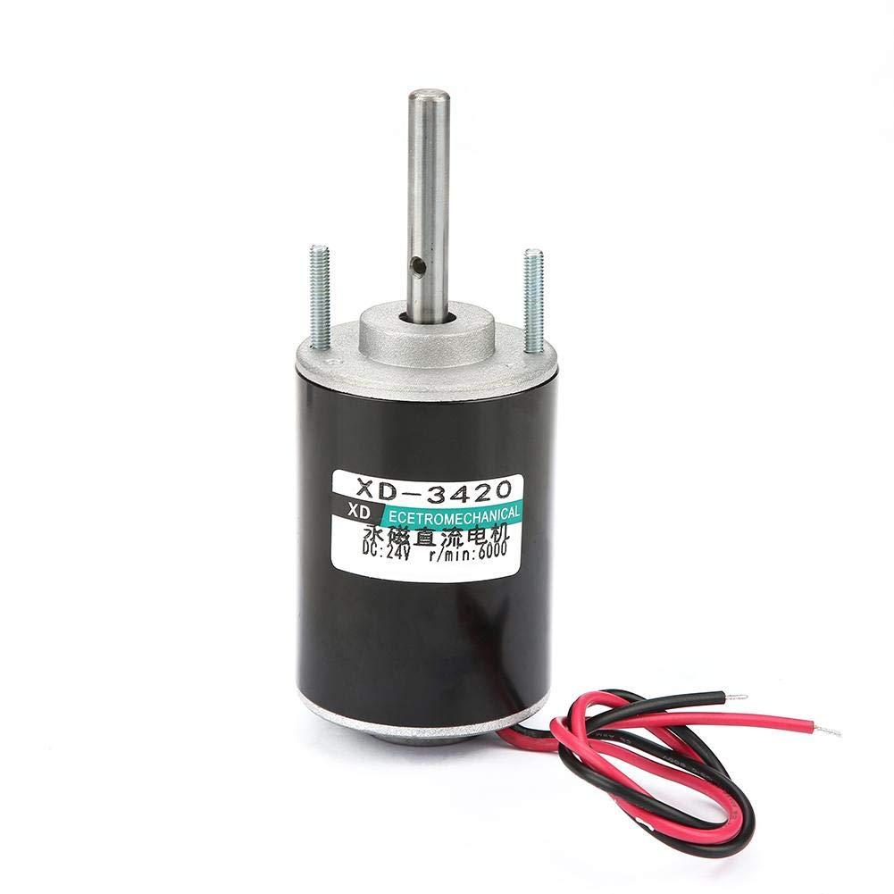 12 / 24V Motor Magnético de CC Motor de Imán Permanente Motores de CW/CCW de Alta Velocidad Motore Reversible (24V 6000RPM)