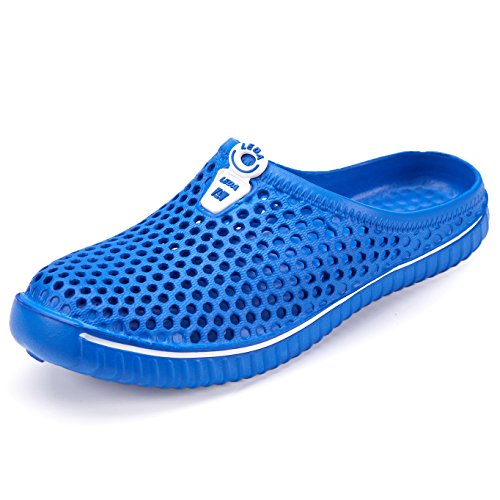 welltree Unisex Garden Clogs Shoes Slippers Sandals for Women Men Walk Quick-Dry Lightweight 7 Men/9 Women/Sapphire Blue/40