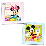 #2: Disney Mickey Mouse and Minnie Mouse Easter Board Book Set For Kids Toddlers (Set of 2 Chunky Mini Board Books)