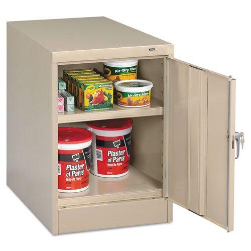 Tennsco 30quot; High Single Door Cabinet, 19w x 24d x 30h, Putty