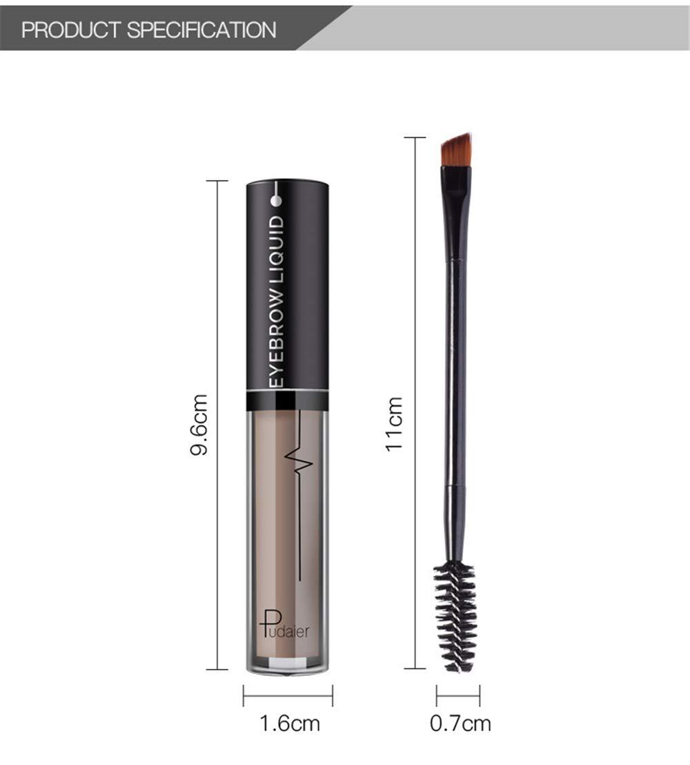 Amazon.com : Double Head Brush Eyebrow Pencil Gel Tint Mascara Cream Paint Eyebrow Liquid Waterproof Black Brown Pigment Eye Brow 02 : Beauty