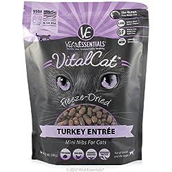Vital Essentials Vital Cat Freeze-Dried Turkey Mini Nibs Entrée, 12 oz