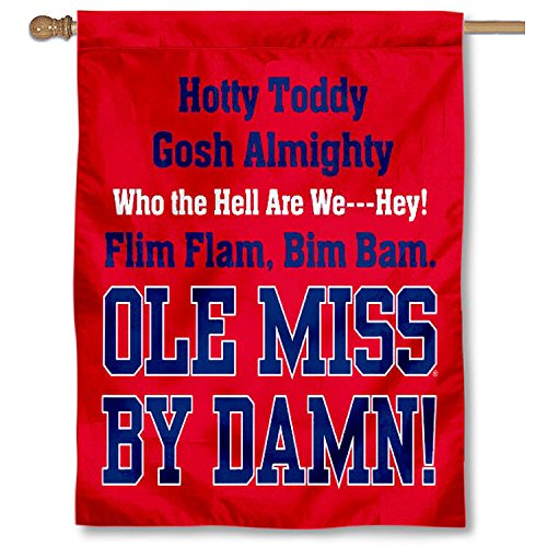 College Flags and Banners Co. Ole Miss Hotty Toddy Double Sided House Flag