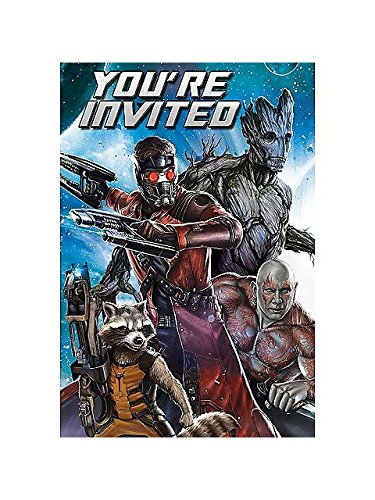 Guardians of the Galaxy Invitations w/ Envelopes (8ct) (Guardians Of The Galaxy For Sale)
