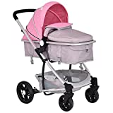Cheap Costzon Infant Stroller 2 in 1 Foldable Baby Buggy Pushchair (Pink)