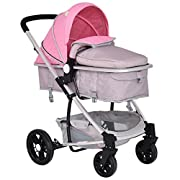Costzon Infant Stroller 2 in 1 Foldable Baby Buggy Pushchair (Pink)