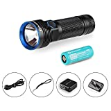 Olight® 2500 Lumens R50 Police Tactical Flashlight 26650 4500mAh lithium-ion Battery Compact...