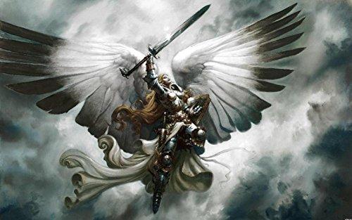 Magic The Gathering Swords Angels Mtg Armor Canvas Poster Print