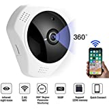 Fish Eye Lens IP Camera,960P 3D 360 Degree Panoramic Night Vision Wireless Security IP camera, Two Way Audio Video Camera, Indoor/Outdoor Security system for baby pet elder