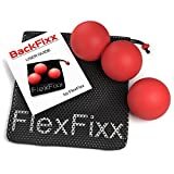 FlexFixx MASSAGE PEANUT & LACROSSE BALL SET - Best for Trigger Point, Physical Therapy, Yoga, Deep Tissue, Acupressure - Mobility Training Tools for Back & Neck Pain Relief with User Guide