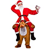 GUAITAI Christmas Costume Santa Claus Snow Man Reindeer Carry Costume Ride On Mascot Costume Party Fancy Dress (Fast delivery by DHL) (Christmas Reindeer / Brown, Free Size)