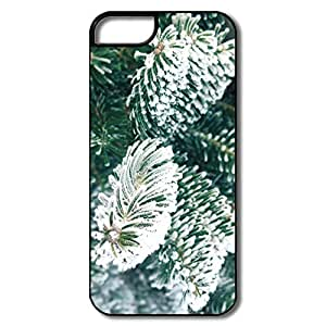 IPhone 5/5S Cases, Frost Christmas Tree White/black Cases For IPhone 5/5S