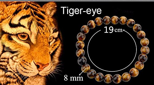 Eye Tiger 8mm Beads - 8mm Round gemstone tiger eye stone beads strand 15