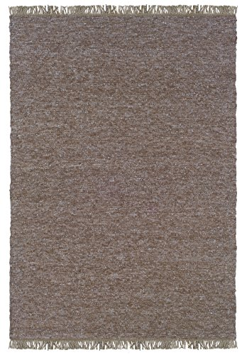 Linon Verginia Berber Blue Natural Fiber Rugs, 3.5 x 5.5, Brown
