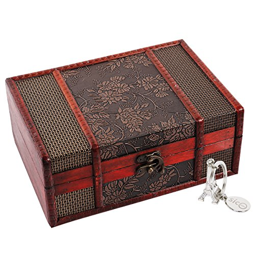 x 9.0inch Grape Small Trunk Box for Jewelry Storage,Treasure Cards Collection,Gift Box,Gifts and Home Decoration ()