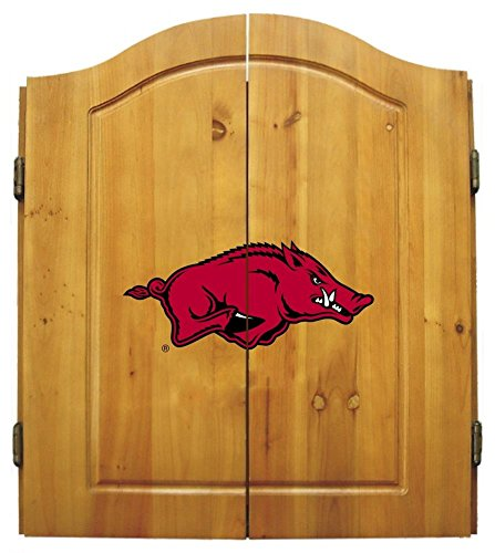 Imperial NCAA Dart Cabinet Set - University of Arkansas by Team Bar Stools