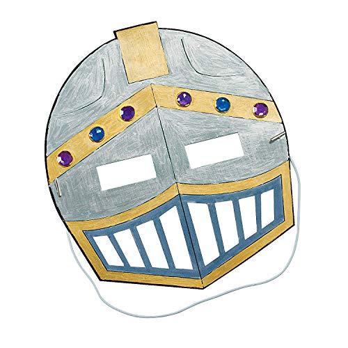 Fun Express Knight Mask Craft Kits - Apparel Craft Kits - Hat & Mask - 12 Pieces]()